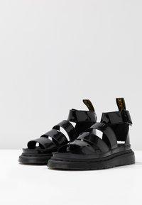 Dr. Martens - CLARISSA II - Sandály na platformě - black - 4