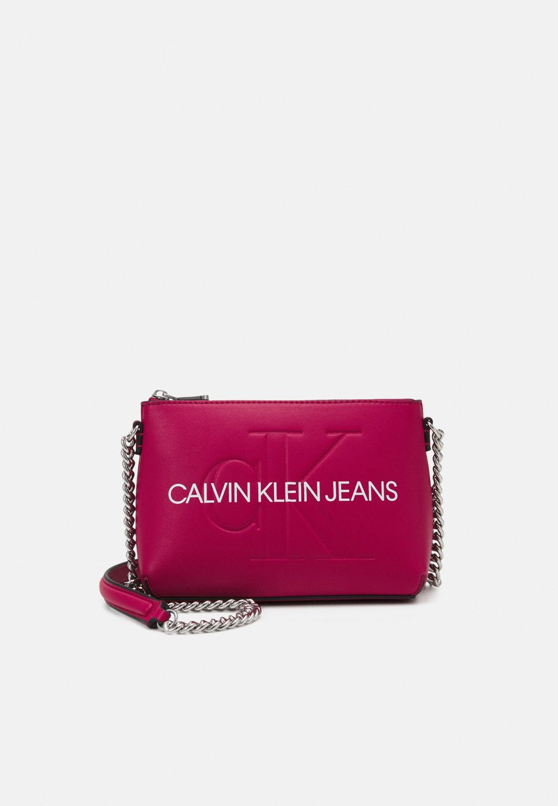 Calvin Klein Jeans - CAMERA POUCH CHAIN - Across body bag - red