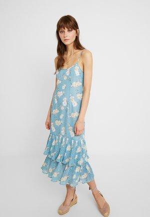 MIA DROP WAIST DRESS - Day dress - teal posey