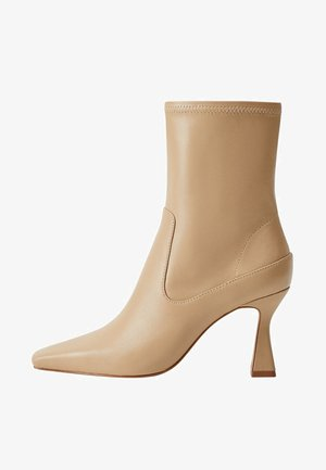AIRE - High heeled ankle boots - beige