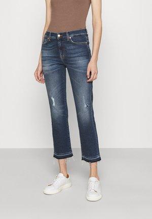 THE STRAIGHT CROP LUXVINMOM - Straight leg jeans - dark blue