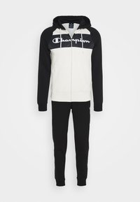 Champion - LEGACY HOODED FULL ZIP SUIT SET - Tracksuit - offwhite/black - 7