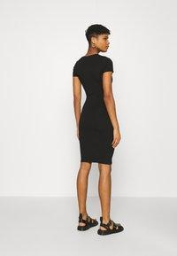 Cotton On - ESENTIAL SHORT SLEEVE BODYCON MIDI DRESS - Shift dress - black - 2