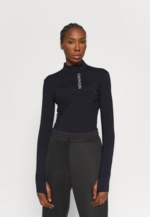 ZIP - Long sleeved top - black