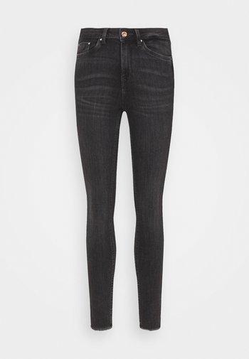 JONA - Jeans Skinny Fit - used mid stone grey denim