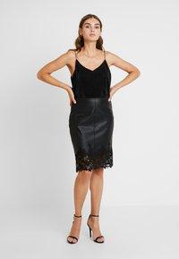 Morgan - JAMIL - Pencil skirt - noir - 1