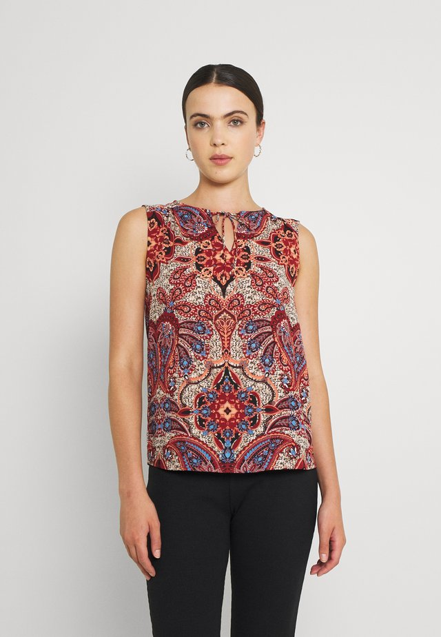 ONLRUTH WIDE NECK SHORT - Top - campanula