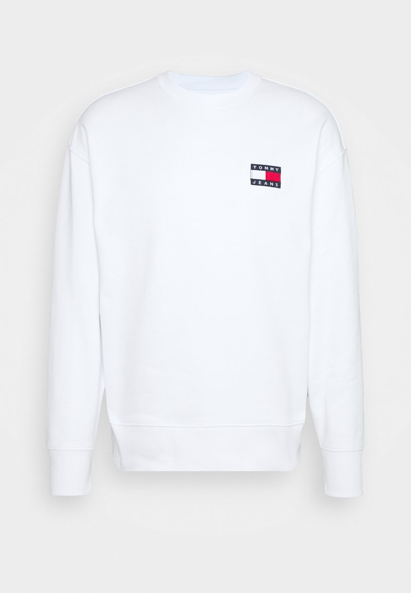 Tommy Jeans - BADGE CREW UNISEX - Sweatshirt - white