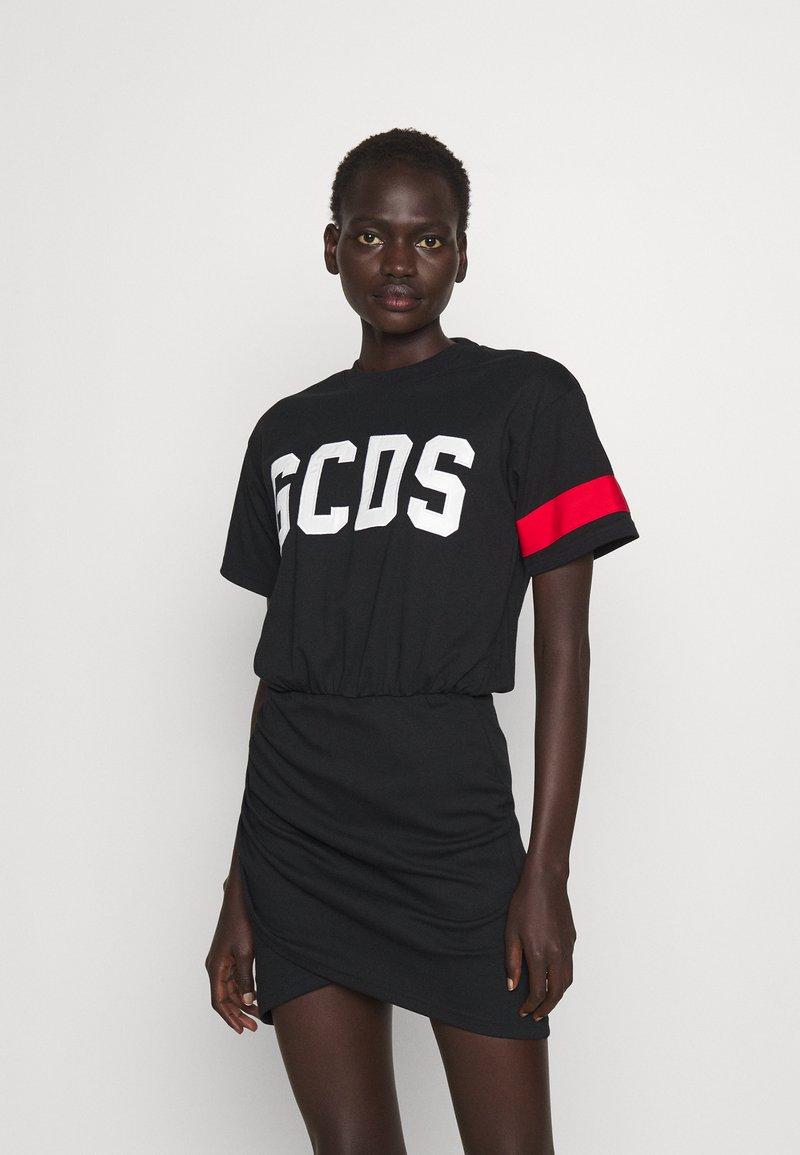 GCDS - WRAPPED DRESS - Day dress - black