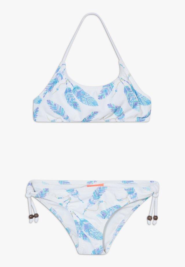 GIRLS FEATHERS HALTER SET - Bikini - white
