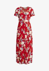 FLORAL BUTTON THROUGH MAXI DRESS - Maxi dress - red