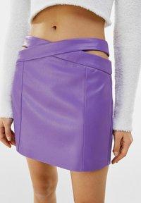 Bershka - Mini skirt - mauve - 3