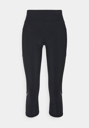 GRAVITY CROP RUN LEGGINGS - Leggings - black