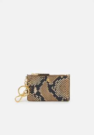 TRI COLOR PYTHON ZIP CARD - Business card holder - nude