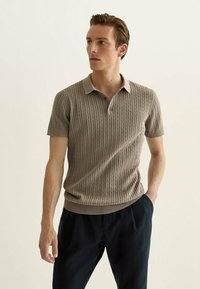 Massimo Dutti - Polo shirt - brown - 0