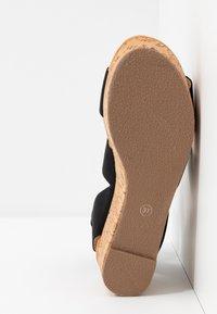 Steven New York - KEASHA - Sandály na platformě - black - 6