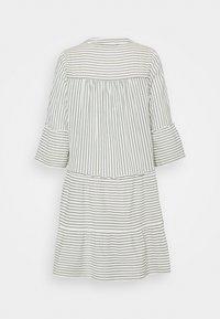 Vero Moda - VMHELI 3/4 SHORT DRESS - Day dress - snow white/laurel wreath - 1