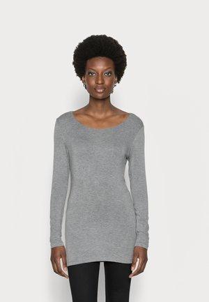 Top sdlouhým rukávem - warm grey melange