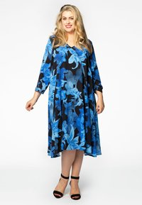 Yoek - Day dress - blue/black - 1