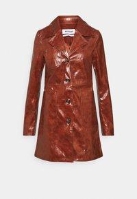 HANNA - Short coat - burgundy brown