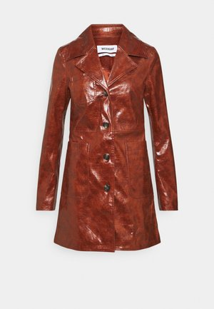 HANNA - Short coat - burgundy brown