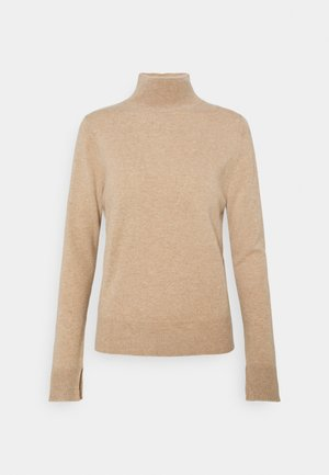 SIMPLE HIGH NECK - Jumper - camel