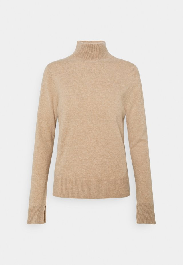 SIMPLE HIGH NECK - Strikkegenser - camel