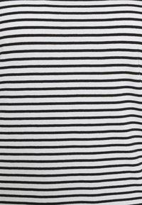 Mads Nørgaard - ORGANIC FAVORITE STRIPE TEASY - Print T-shirt - white/black - 5