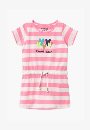 SMALL GIRLS HEART STRIPE DRAWSTRING - Jersey dress - azalee