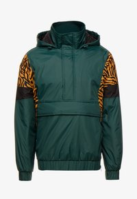 Urban Classics - ANIMAL MIXED JACKET - Windbreaker - bottlegreen - 4