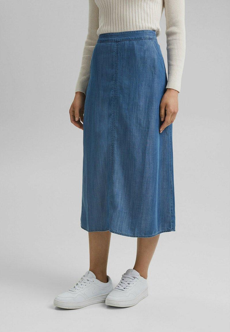 Esprit - Denim skirt - blue medium washed