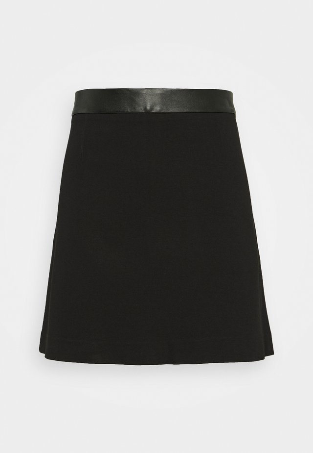 TRIM SKIRT - Mini skirt - black