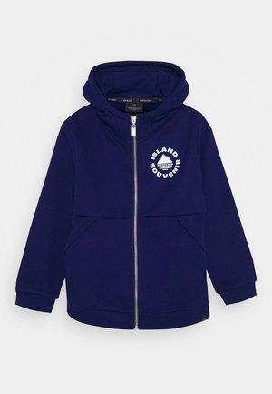 Zip-up hoodie - yinmin blue