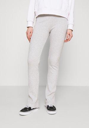 BEATA TROUSERS - Leggings - Trousers - grey melange