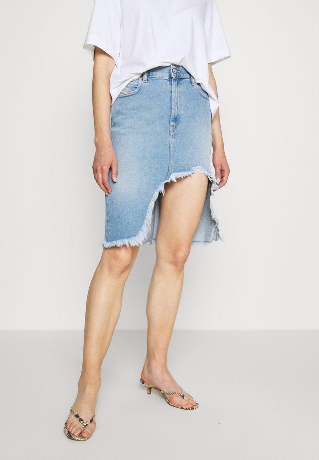 DE-ELLYOT SKIRT - Denimová sukně - blue denim