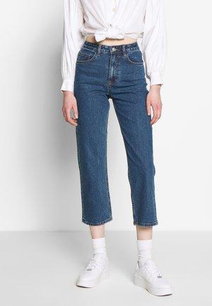 OBJVINNIE LOOSE  - Jeans slim fit - dark blue denim