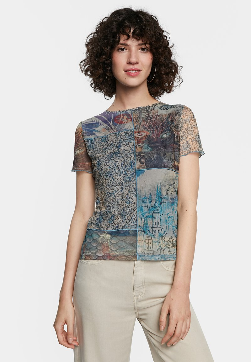 Desigual - Print T-shirt - brown