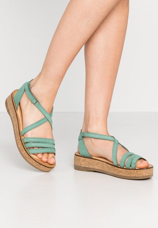 TÜLBEND - Korkeakorkoiset sandaalit - mint