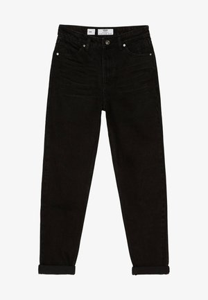 MOM - Jeansy Straight Leg - black