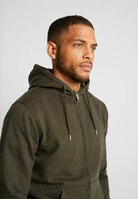 Solid - MORGAN ZIP - Zip-up hoodie - olive - 4