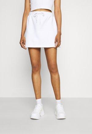 ELASTICATED WAIST MINI SKIRT - Mini skirt - sand
