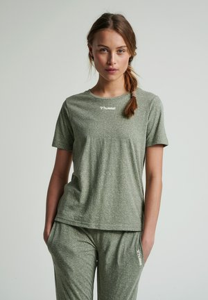 Basic T-shirt - vetiver melange