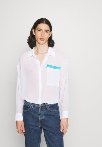 SHEER OVERSIZED - Shirt - white