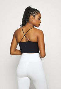 Nike Performance - YOGA CROP TANK - Funkční triko - black - 2