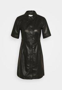 Object Petite - OBJPRIA L DRESS  - Denní šaty - black - 4