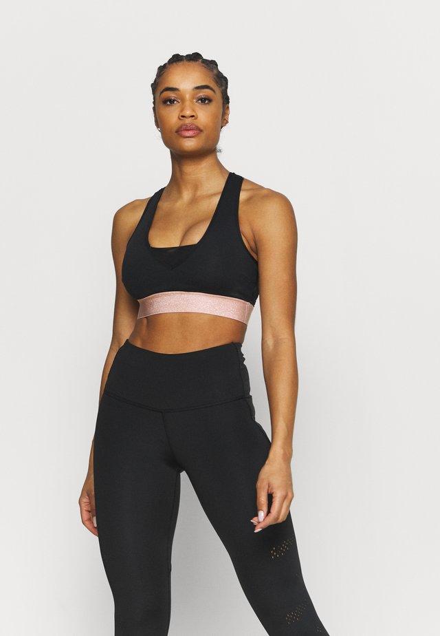 BACK MAINTIEN FORT - Medium support sports bra - noir