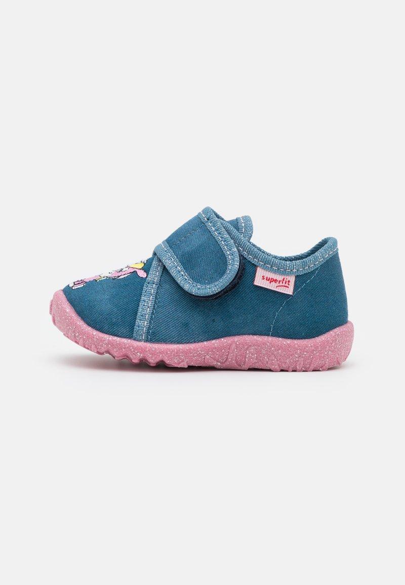 Superfit - SPOTTY - Slippers - blau