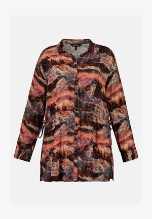 Button-down blouse - dunkel-orange