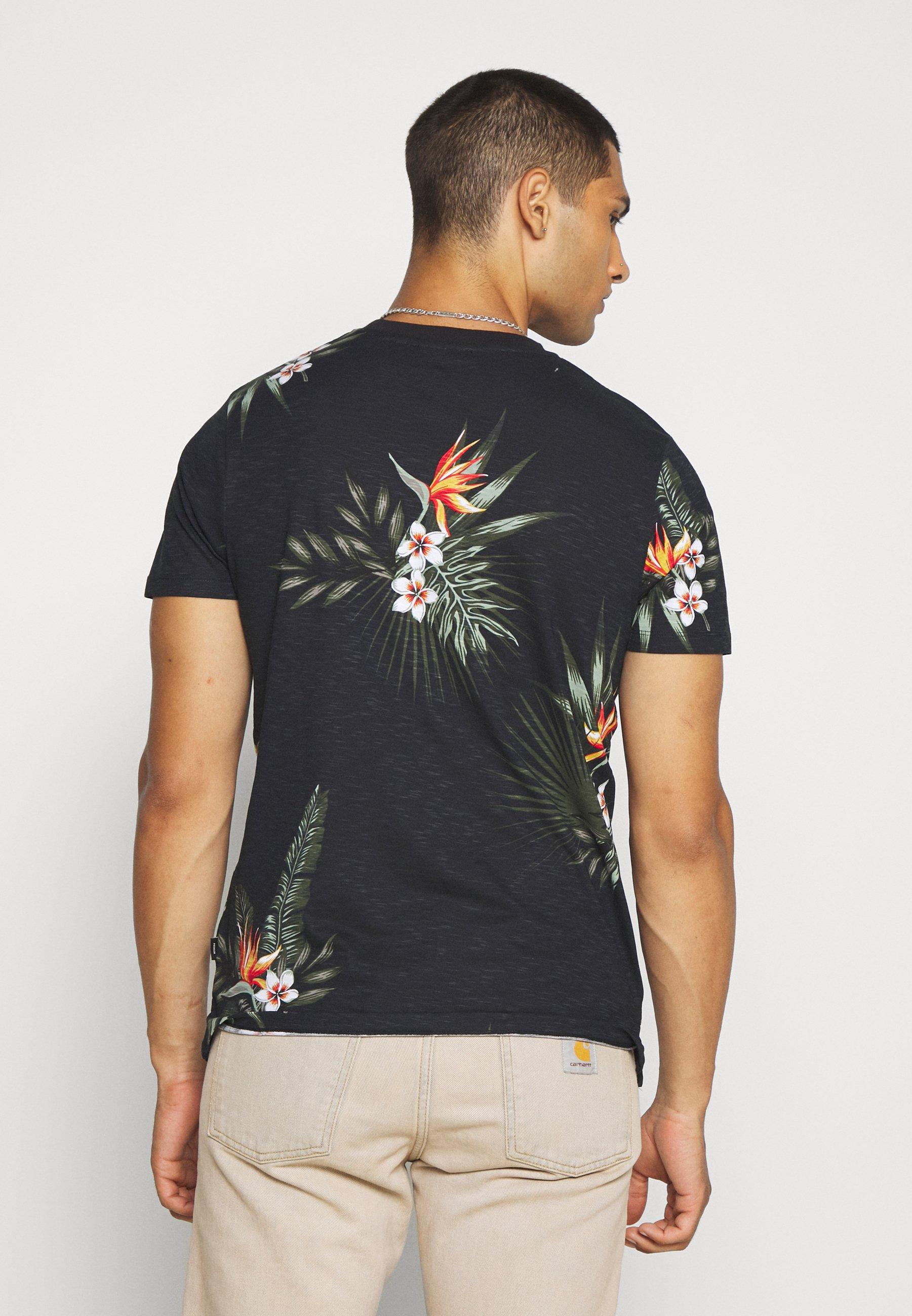Jack & Jones PREMIUM JPRHOLIDAY TEE CREW NECK - Print T-shirt - black ynqvq