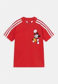 adidas Performance - DISNEY MICKEY MOUSE TEE - Print T-shirt - vivid red/white - 0
